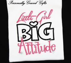 little big attitude girls custom embroidered shirt or