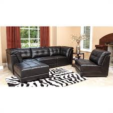 Abbyson Leather Sofa Reviews Abbyson Living Donovan 5 Piece Modular Leather Sectional In Black