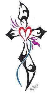 cool tribal cross tattoos design tribal cross for