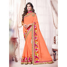 Apricot Color Apricot Color Saree Sku No Dfz4737 73374