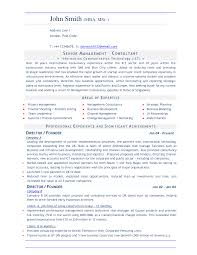 consulting resume management consultant resume summary for management