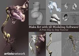 a digital painting tutorial using 3d modeling