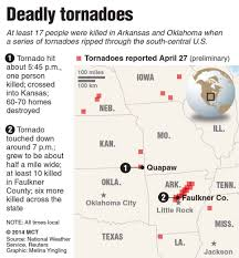 Map Of The Midwest Tornadoes Cause Devastation In Central States Kansas Arkansas And
