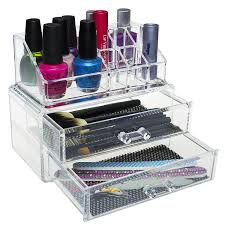 amazon pro clear acrylic counter dresser makeup organizer just