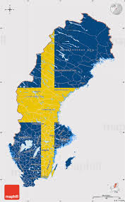 World Map Country Flags Flag Map Of Sweden