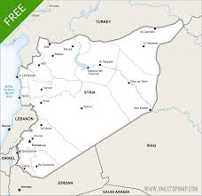 Damascus Syria Map by Free Vector Map Of Syria Political One Stop Map