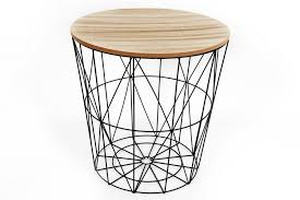 round metal side table 40x40cm decorative round metal coffee side table stool wooden top