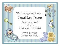 birth announcement wording personalized birth announcements by the personal note use our