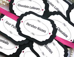 Pink And White Candy Buffet by Candy Buffet Tags Pink Candy Buffet Tags Black And White