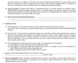 the listing agreement para 3 4 and 5 u2013 listing price term and