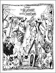 20 best coloring nightmare before christmas images on pinterest