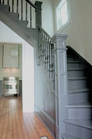 Switch Back Stairs by Kaemingk Design Modern Victorian Farmhouse Staircase Painted