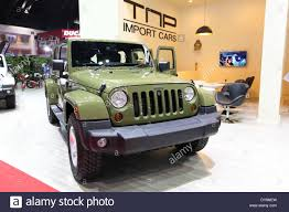 jeep sahara jeep sahara wrangler unlimited car on display stock photo royalty