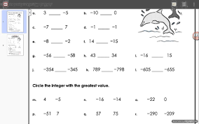 adding and subtracting rational numbers worksheets comparing integers worksheet answers
