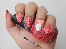 cute nails neon nails3 3d polka dot bow nails