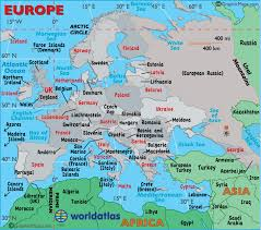 maps of europe map map of europe europe maps of landforms roads cities