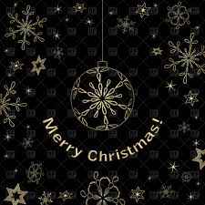black christmas cards black christmas card with gold snowflakes royalty free vector clip