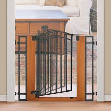 Child Gates For Stairs Amazon Com Summer Infant Wood And Metal Walk Thru Gate Brown