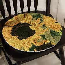 Sunflower Rugs Sunflower Blooms Chair Pad Sturbridge Yankee Workshop