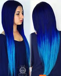 da blues by hairgod zito this electric blue hair color melt is a