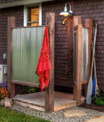 16 diy outdoor shower ideas rainbows backyard and yards