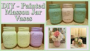 Mason Jar Vases For Wedding Wedding Series Diy Painted Mason Jar Vases Vintage Rustic