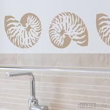 Bathroom Wall Stencil Ideas Stencils Nautilus Shell Stencil Wall Stencil Is Perfect For
