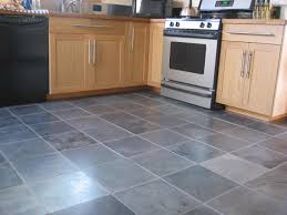 grey floor tiles for kitchen with maple cabinet 9338