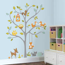 a look inside woodland fox and friends roommates blog woodland fox and friends giant wall decals