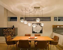 dining room contemporary contemporary dining room with round multiple glass pendant