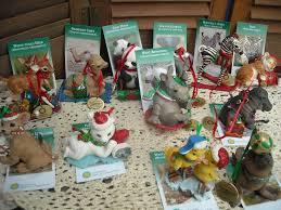 the danbury mint tree ornaments baby animal