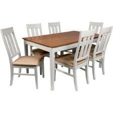 homebase kitchen furniture wiltshire two tone dining table 8 chairs from homebase co uk