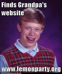 Website Meme - finds grandpa s website www lemonparty org memebase funny memes