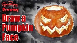how to draw and paint a pumpkin lantern for halloween youtube