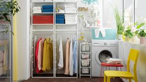 ikea kitchen cabinets laundry room an affordable laundry spot with jonaxel shelving unit ikea