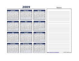 2009 calendar 275
