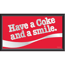 trademark coca cola have a coke and a smile 15 in x 26 in black