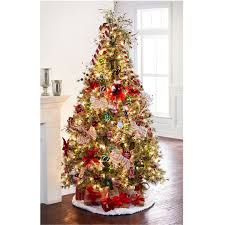 Pre Decorated Artificial Christmas Trees Sale by 7 5 Ft Pre Lit Jasper Cashmere Artificial Christmas Tree Clear