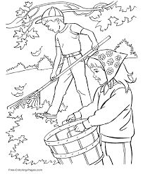 printable autumn fall coloring pages 13