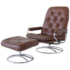 Swedish Leather Recliner Chairs Ekornes Stressless Chair And Ottoman At 1stdibs