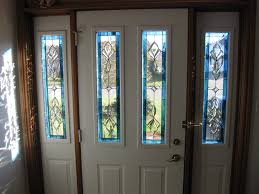 Exterior Glass Front Doors by White Stained Glass Front Door With Sidelights Decofurnish