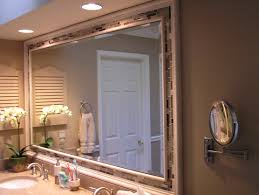 How To Make A Frame For A Bathroom Mirror bathroom tile simple tile framed bathroom mirror home design
