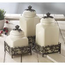 white kitchen canister set all about ceramic