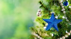Christmas Tree High Resolution Blue Star And Ball On The Christmas Tree Wallp 10310 Wallpaper