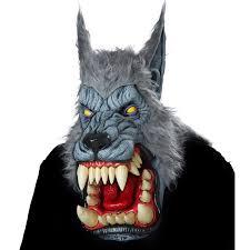 halloween costumes werewolf lunar psycho wolf big mouth mask buycostumes com