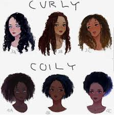 why is my hair curly in front and straight in back drawing curly and coily hair how to draw pinterest coily