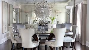Mirrored Dining Room Furniture Dining Room Harrison Home Silver Starburst Mirror Mirrored