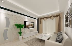 decoration simple living room sofa and potted house with