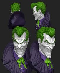 joker for 3d print by stevenjamestaylor on deviantart
