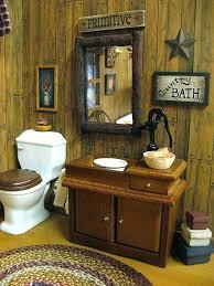 Primitive Bathroom Decor Black Oblong Country Bath Box Toilet